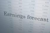 Earnings forecast — Stock Photo