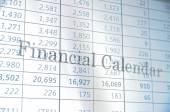 Financial calendar — Stock Photo