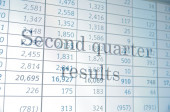 Second quarter results — Stock Photo