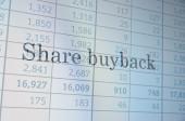 Share buyback — Stock Photo