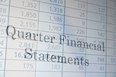 Quarter Financial Statement — Stock Photo