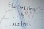 Share prices & analysis — Stock Photo