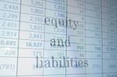 Equity and liabilities — Stock Photo