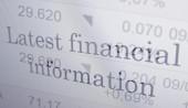 Latest financial information — Stock Photo
