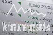 Downtrend arrow and inscription Verbraucherpreisindex — Stock Photo