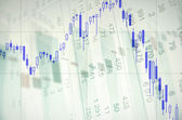Downtrend candlestick chart — Stock Photo