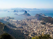 Rio de janeiro, brezilya. corcovado görüntülendi suggar somun — Stok fotoğraf