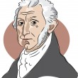 American president James Monroe — Vector de stock  #64286955