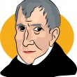 American president William Henry Harrison — ストックベクタ #64287613