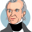 American president James Knox Polk — Vector de stock  #64288093
