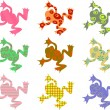 Wild patterned Frogs — Stock Vector #64288527