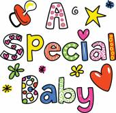Text that reads A SPECIAL BABY. — Stock Vector