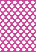 White polka dots on a pink — Wektor stockowy