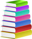 Pile of Colourful Books — Vettoriale Stock