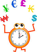 Time is money concept. — Stock Vector