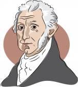 American president James Monroe — Stock Vector