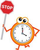 Stop time clock cartoon — Stock Vector