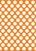 White polka dots on a orange — Stock Vector