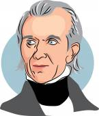 American president James Knox Polk — Stock Vector