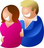 Happy heterosexual couple — Stock Vector