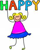 Happy kid cartoon — Stock Vector