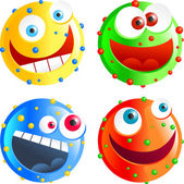 Spotty smilies — Stock Vector