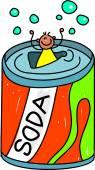 Soda kid boy — Stock Vector