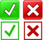 Check mark, tik icon sign. — Stock Vector