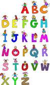 Illustration des lettres de l'alphabet — Vecteur