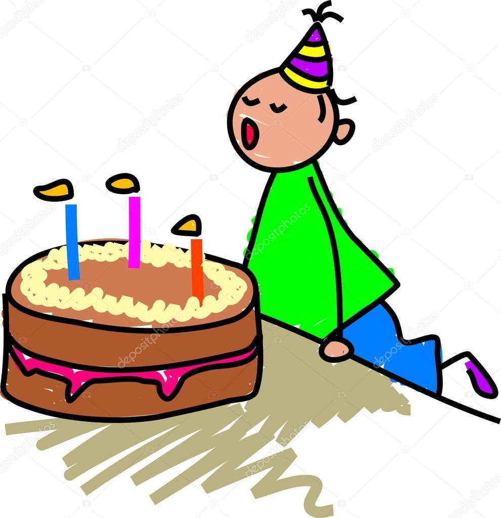 Monster Cartoon Birthday Cake