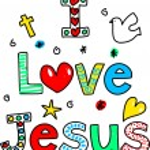 Jesus Loves You religion heart — Stock Vector #64293061