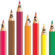 Group of Diverse Pencil People — Stock Vector #64293669