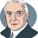American president Warren G Harding — Stok Vektör #64295217