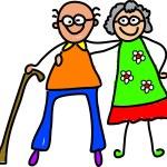 My Happy grandparents cartoon — Stock Vector #64295773