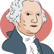 American president George Washington — Vecteur #64295831