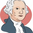American president George Washington — 图库矢量图片 #64295831