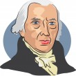 American president James Madison — Stockvektor  #64298021