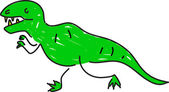 Tyrannosaurus illustration — Stockvektor