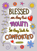 Blessed are they that mourn for they shall be comforted — Stock Vector