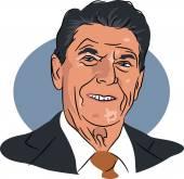 Amerikaanse president Ronald Reagan — Stockvector