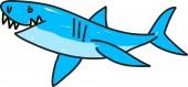 Köpekbalığı illüstrasyon — Stok Vektör