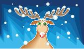 Cute Christmas reindeer — Vector de stock