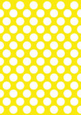 White polka dots on a yellow — Stock Vector