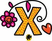 Whimsical Cartoon Alphabet Letter — Stock Vector
