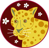 Cartoon Spotty Leopard — Stock Vector
