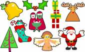 Collection of Christmas icons — Stock Vector
