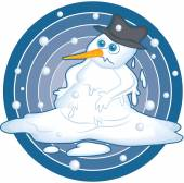 Illustration of a melting snowman. — Stock Vector