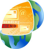Email globe — Vettoriale Stock