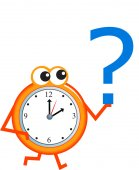 Question time clock — Stock Vector