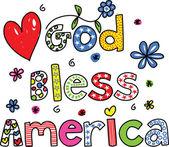 God Bless America — Stock Vector